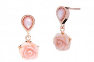 Touch Of Earrings Collection Rose